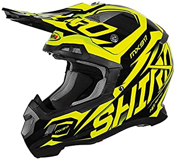 Shiro mx-917 casco, Thunder, color amarillo, ...
