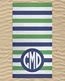 Monogrammed Beach Towel, Swimming Towels for Kids, Personalized Children's Beach Towels, Kids Beach Towels, Beach Towels Striped, Microfiber Beach Flat Towel 60x30 inches