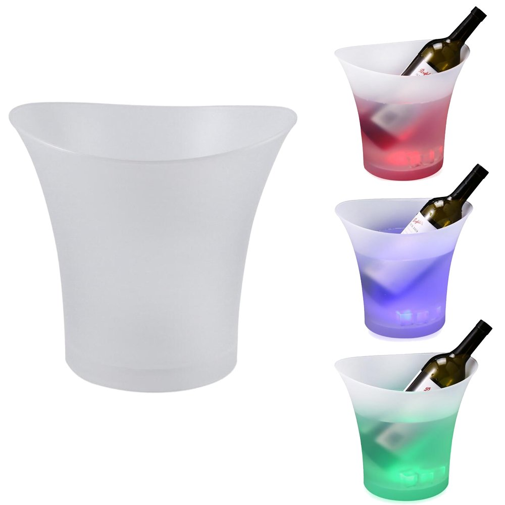 Smad LED Lighted Ice Bucket Color Changing Drinking Wine Champagne Buckets for Party Home Weddings