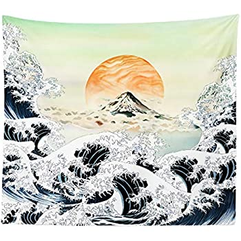 iLiveX Tapestry, Original Design Hand Drawing Art Print Tapestry Wall Hanging, 51.2