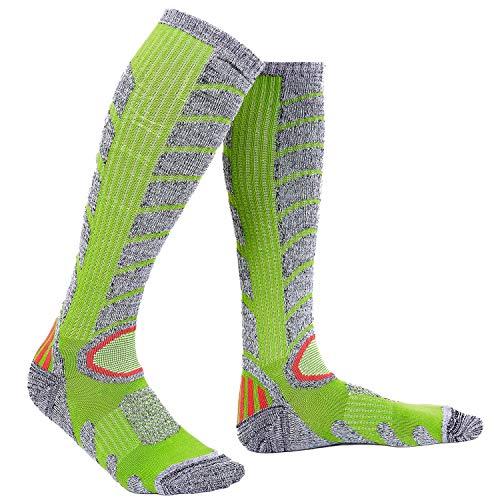 Warm Socks for Winter Womens Thermal Padded Skiing Socks 1 Pack Green