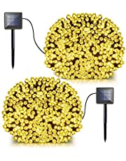 Solar Fairy String Lights, 2 Pack 72ft 200 LED Bright Solar Decorative Romantic Powered Starry Fairy Lights Waterproof Christmas Lights for Outdoor, Indoor, Garden, Home, Christmas Party, Wedding, Dancing, Holiday, Mall, Xmas Tree -8 Modes Lovely Lightning Warm White - LDesign