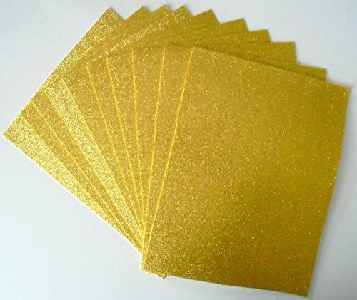 Glitter Foam Sheets Glitter foamy sheets 10 pieces 8.5 x 11 yellow by GLITTER FOAMY