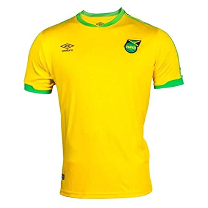 8590b87bd Umbro 2018-2019 Jamaica Home Football Soccer T-Shirt Jersey (Kids ...