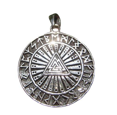 Small 925 Sterling Silver Inverted Upside Down Petrine Satanic Cross Pendant A7