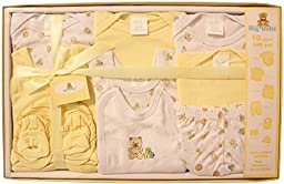 Big Oshi Baby 10 Piece Layette Gift Set, Yellow, 0-3 Months