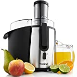 VonShef Professional Powerful Wide Mouth Whole Fruit Juicer 700W Max Power Motor with Juice Jug and Cleaning Brush