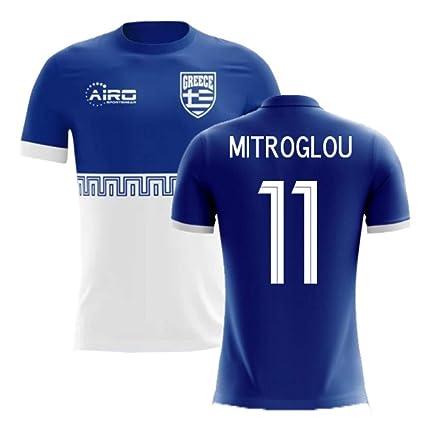 Football Concept 11 Mitroglou Away com Jersey kostas Greece T-shirt amp; Sports Airosportswear 2018-2019 Amazon Outdoors Soccer