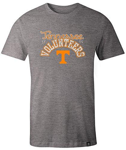 NCAA Tennessee Volunteers Adult Women NCAA Classic Arch Script Image One Women's Triblend Short sleeve T-Shirt, XX-Large,HeatherGrey