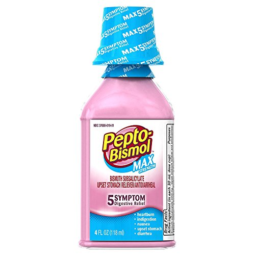 (Pepto-Bismol Max Strength Liquid 4 oz (Pack of 3))