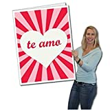 "2'x3' Giant Valentine's Day Card ""Te Amo"" (Spanish Quote) w/Envelope"