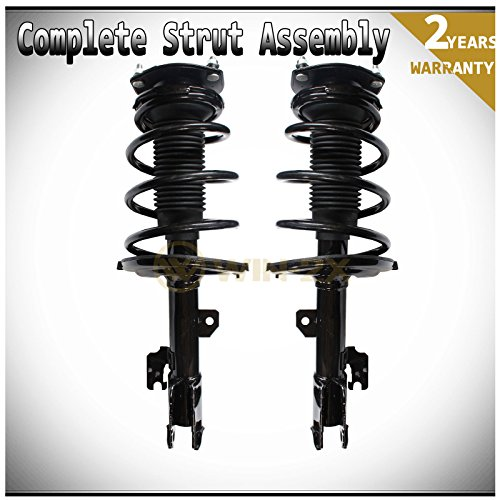 WIN-2X New 2pcs Front Left & Right Side Quick Complete Suspension Shock Struts & Coil Springs Assembly Kit Fit 04-06 Lexus ES330 04-06 Toyota Camry 05-06.1 Avalon 04-06.6 Solara - 0.1% Suspension