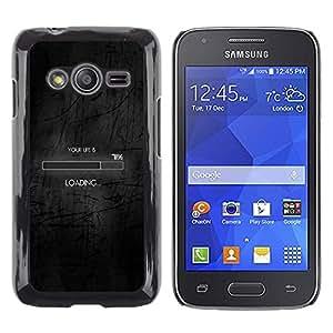 Stuss Case / Funda Carcasa protectora - Loading Life Funny Clever Internet Black - Samsung Galaxy Ace 4 G313 SM-G313F