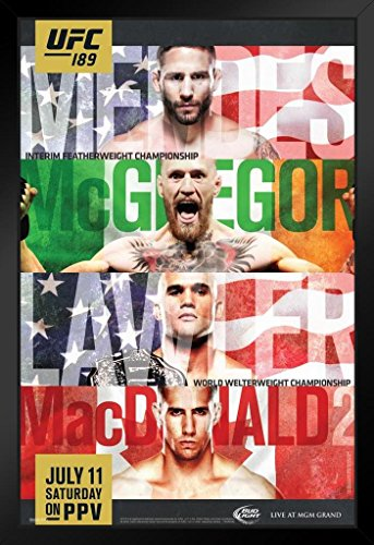 Pyramid America Official UFC 189 Chad Mendes vs Conor for sale  Delivered anywhere in USA