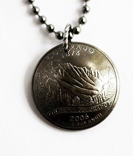 State Quarter Necklace Domed Coin Pendant Colorado 2006