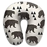Scorpio Bear Animal Washable Cover Travel Pillow Spa U SHAPE For Airplane Travel Unisex