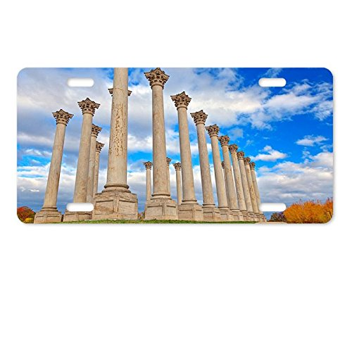 Metal License Plate Cover National Capitol Columns Aluminum License Plate 12