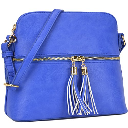Cute with Royal Tassel Handbags Purses Bags Blue Crossbody Medium DASEIN Lightweight Iw80wX