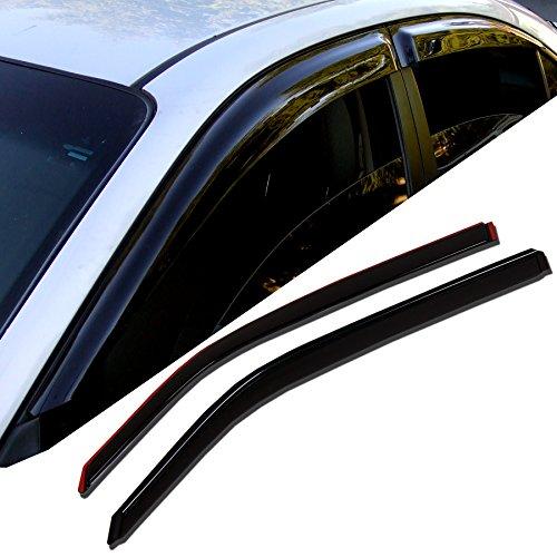 (TuningPros WD-749 Tinted Smoke Out-Channel Window Visor Deflector Rain Guard 4-pc Set )