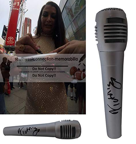 Victoria WWE Diva Autographed Hand Signed Microphone with Exact Proof Photo of Victoria Signing the Mic and Coa, WWF, Professional Wresting, World Wrestling Entertainment from Southwestconnection-Memorabilia