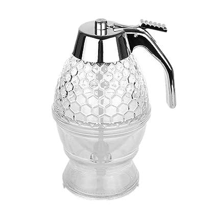 Onerbuy dispensador de miel o sirope, de capacidad, de acrílico, con gatillo y