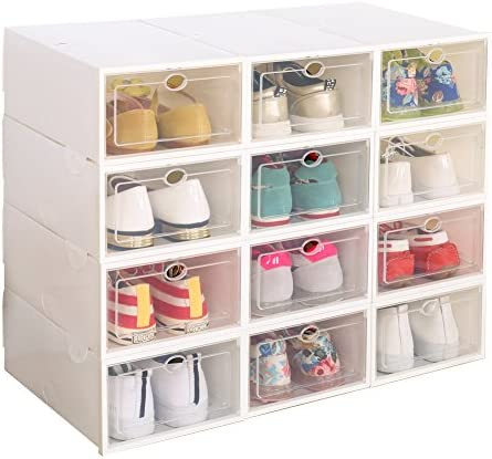 Clear Plastic Stackable Storage White product image