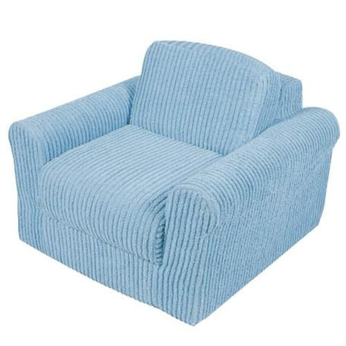 Fun Furnishings Chair Sleeper, Blue Chenille