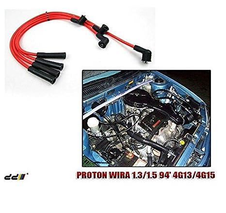 Plomo de encendido spark plug cable de alambre, Mitsubishi Lancer 4 G15 Mirage persona WiRa: Amazon.es: Coche y moto