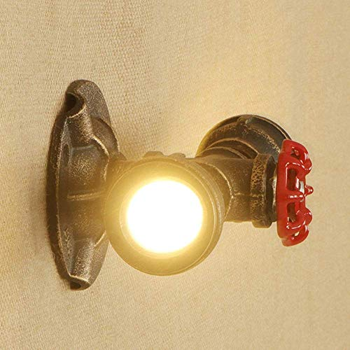 Ceiling Fan Light Chandelier Lightings Wall Lamp Wall 2 Heads Led Wall Murals Metal Head Pipe Wall Lamp Projector Lamp Café Bar Wall Lamp Wall Decorate Decorate an Interior Lighting Wall Murals, Chu ()