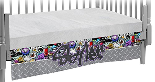 Graffiti Crib Skirt (Personalized) by RNK Shops