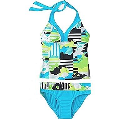 ca324c1bc30da Zero Xposur Big Girl's Abstract Print Tankini Swimsuit Set 2 Piece ...