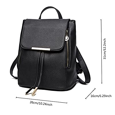 B&E LIFE Fashion Shoulder Bag Rucksack PU Leather Women Girls Ladies Backpack Travel bag