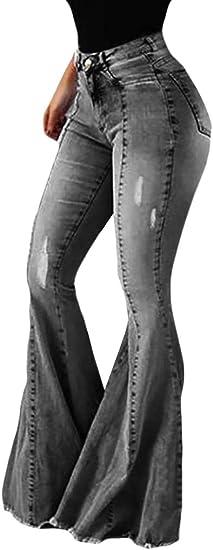 EnergyWD 女性の洗濯ハイライズローヘムセクシーなパンツバットリフトブーツカットジーンズ