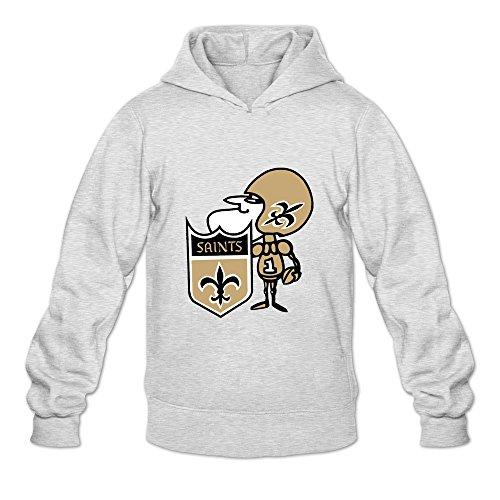 Phoenix Fleur De Lis - Men's Cute Sir Saint Logo Street Wear Hoodies Sweatshirt Size XXL US Ash