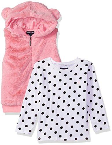 Limited Too Juego de Playera y Chaleco de Punto para niñas (más Estilos Disponibles), Rosa (Prism Pink), 2 Años