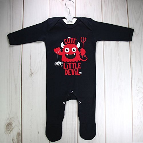 [New Baby Halloween Cute Little Devil Romper Suit Baby Grow Costume by Party Delights] (Devil Costume Party City)
