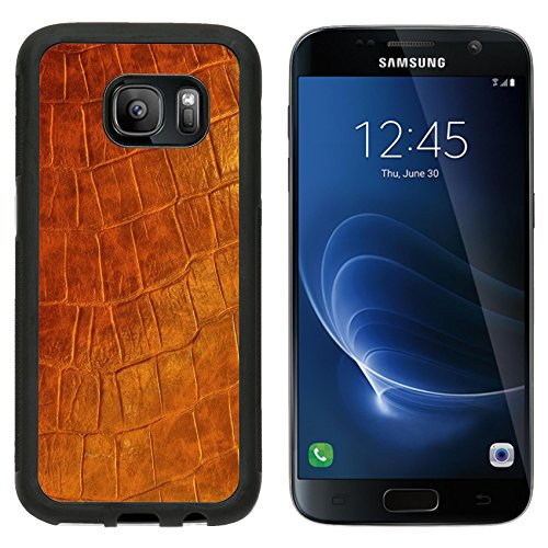 MSD Premium Samsung Galaxy S7 Aluminum Backplate Bumper Snap Case brown polish Leather IMAGE 29664168