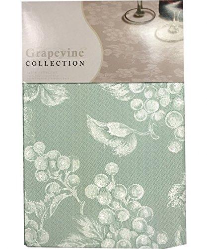 (Sage Green Grapevine Vinyl Tablecloth (52x70 Oblong))