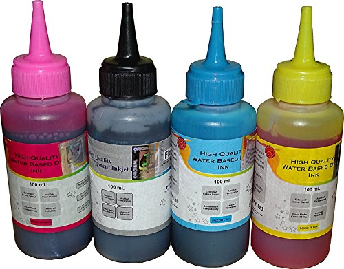 Flowjet Refill Ink Set For Canon Inkjet Pixma Printer Ink Cartridge (Black,Cyan,Magenta & Yellow)