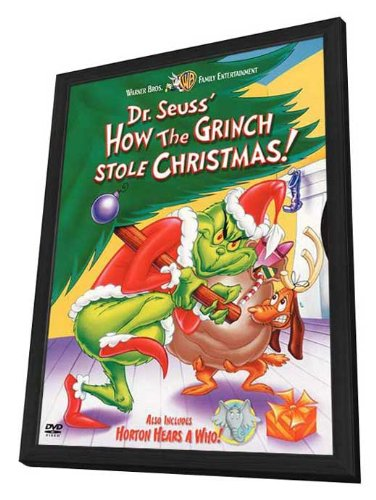 How The Grinch Stole Christmas Movie Poster.Amazon Com How The Grinch Stole Christmas 27 X 40 Framed