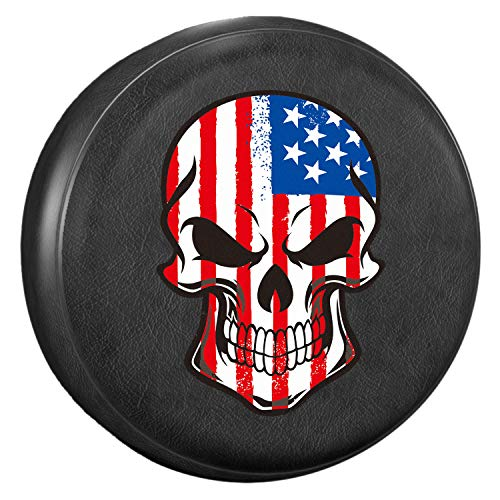 - AmFor Spare Tire Cover, Universal Fit for Jeep, Trailer, RV, SUV, Truck and Many Vehicle, Wheel Diameter 32