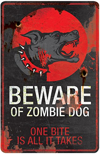 Zombie Dog - Halloween Sign Beware of Zombie Dog 11 x 17 in