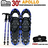 "New MTN 30"" OP Blue All Terrian Snowshoes+Nordic pole+ Free Carrying Bag"