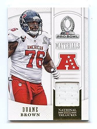 2013 Panini National Treasures Pro Bowl Materials  3 Duane Brown Texans  Jersey 9e17e1933