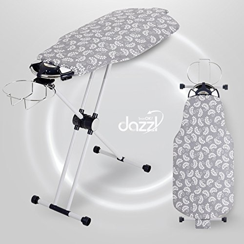 DAZZL Patented 360 Rotation Sided Ironing Board With Iron Rest /Premium EZ70 by Dazzl 360
