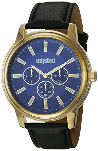 UNLISTED WATCHES Men's 'Sport' Quartz Metal Dress Watch, Color:Black (Model: 10031972)