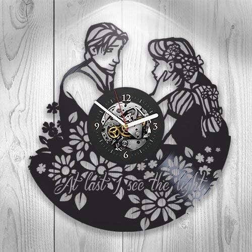 Gift Ideas for his and her Get Unique Room Wall Decor Villains Disney Walt Disney Movie Handmade Vinyl Record Wall Clock Modern Unique Home Art Design /…