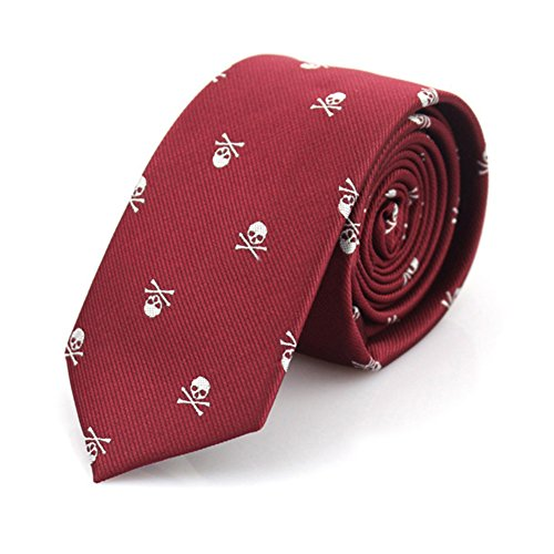Gift LD17702 Bluelans Men's Crossbones Slim Tie Narrow Novel Casual Necktie Party Skull Suit CAPawq