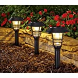Better Homes and Gardens 3-Piece Avalon Solar-Powered Landscape Light Set, Black Finish