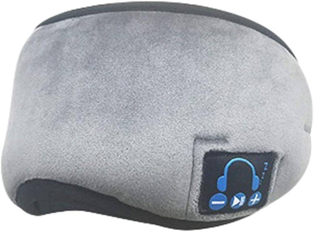 Yuncai Máscara de Sueño Inalámbrica Lavable Bluetooth 5.0 con Auriculares para Viajar, Dormir